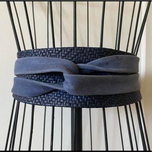 Ada textured blue leather odi belt